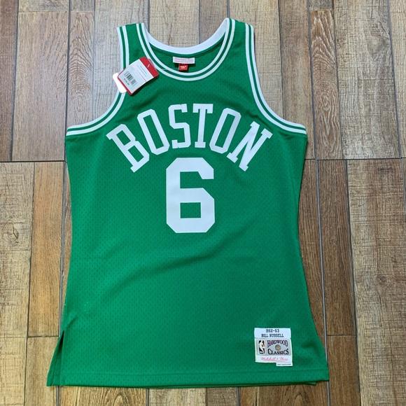 6a2b22b1b56 NWT Boston Celtics Bill Russell Vintage NBA Jersey